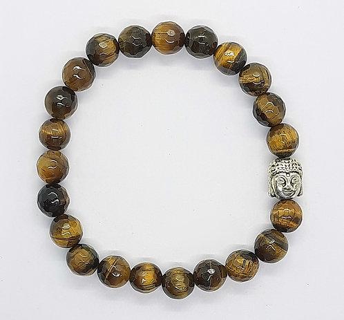 Tiger's Eye Bracelet (Diamond cut)