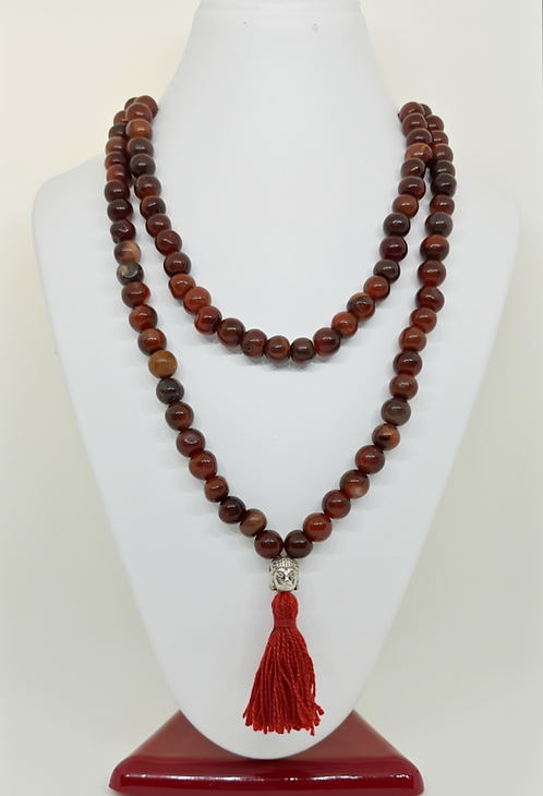 Carnelian Necklace/Prayer Maala