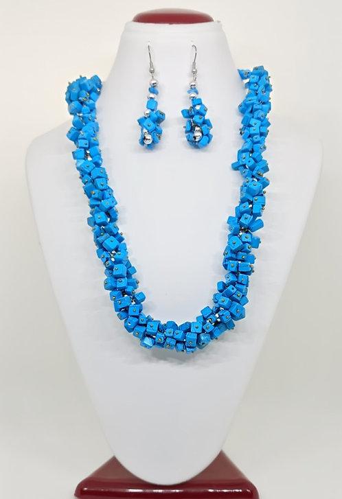 Turquoise Necklace, Earring & Bracelet Set
