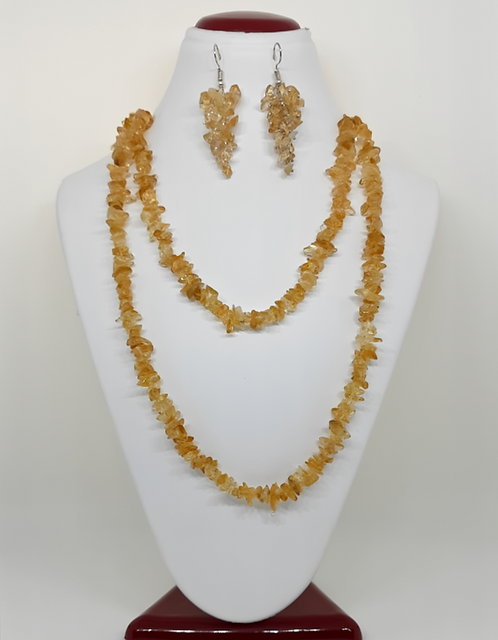 Citrine Necklace & Earring set