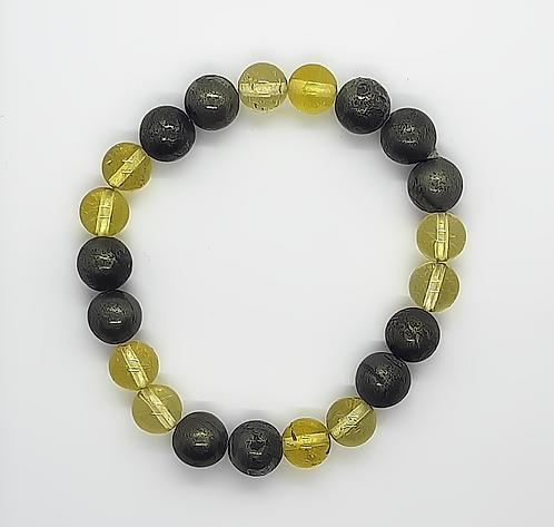 Money Bracelet (Citrine & Pyrite)