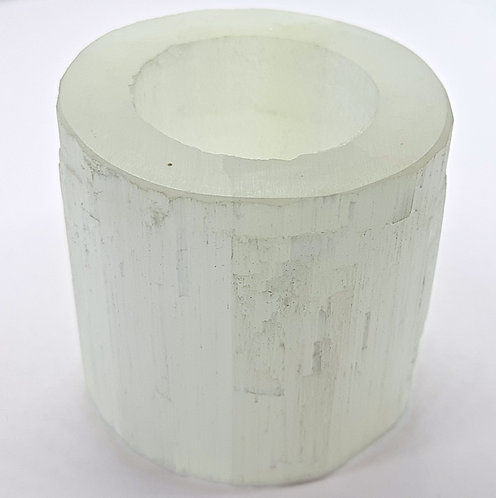 Selenite Candle Stand