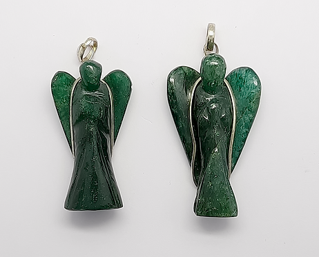 Green Aventurine Pendant (Angel)