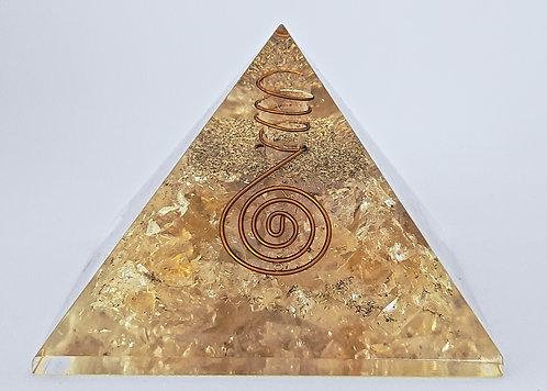 Citrine Orgone Pyramid
