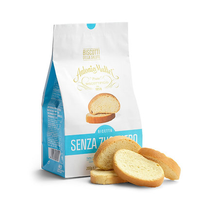 Mattei Sugar free.  Crispy slices, artisanally toasted