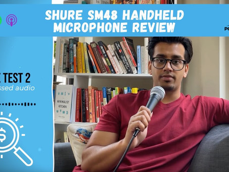 Shure SM48 Handheld Microphone Review for Podcasting (under $50)
