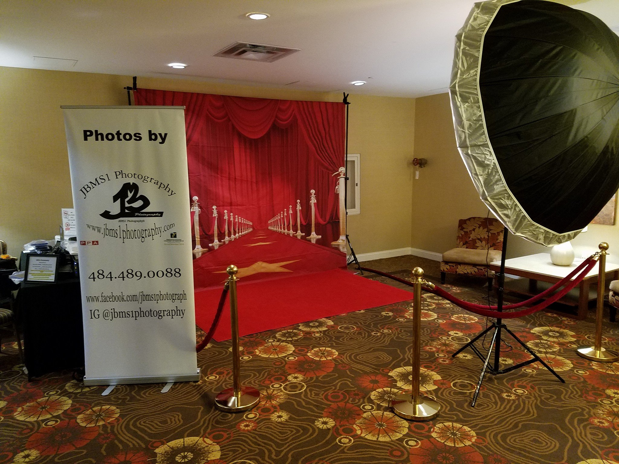 Red Carpet Backdrop setup