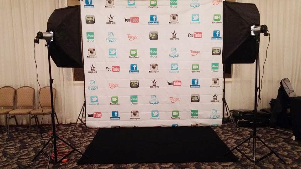 All social media backdrop