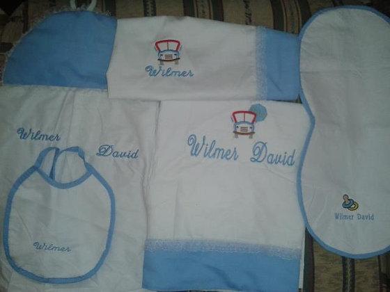 Detalles para bebé bordado