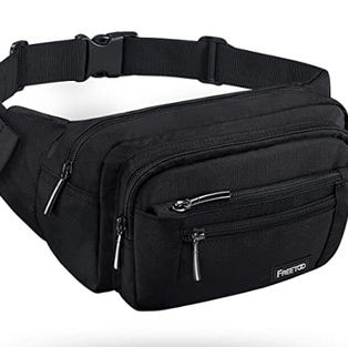 Large Capacity Fanny Pack - Black
