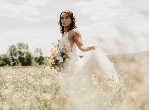 Copper + Blue Boho Summer Wedding Styled Photoshoot