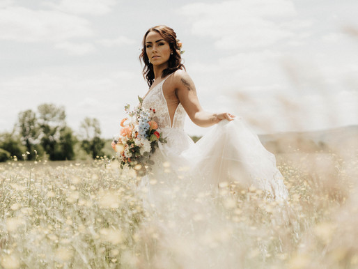 Copper + Blue Boho Summer Wedding Styled Photoshoot