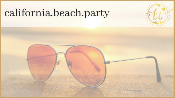 California Beach Party Theme