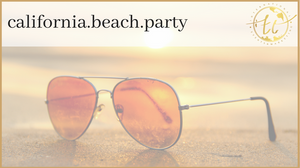 California Beach Party Theme
