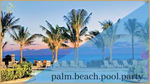 Palm Beach Pool Party Theme