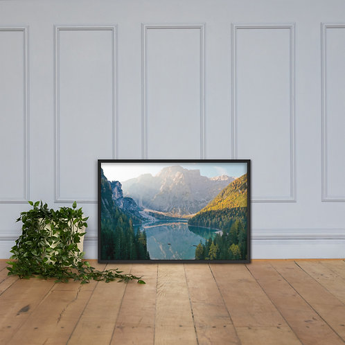 Lago Di Braies, Italy   Framed