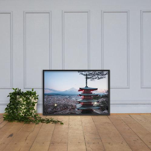 Chureito Pagoda Dusk | Framed