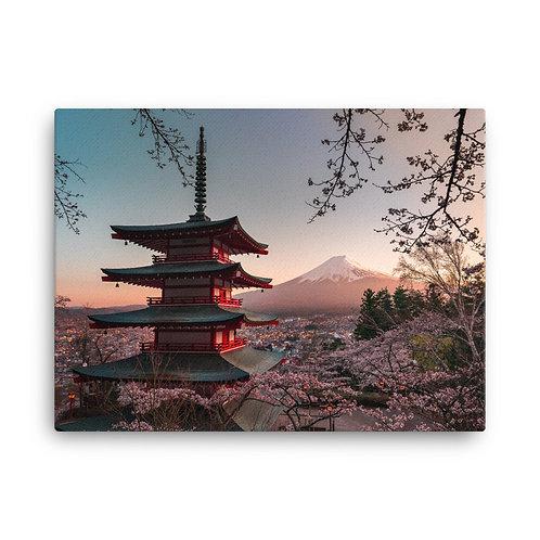 Chureito Pagoda Sunset | Canvas