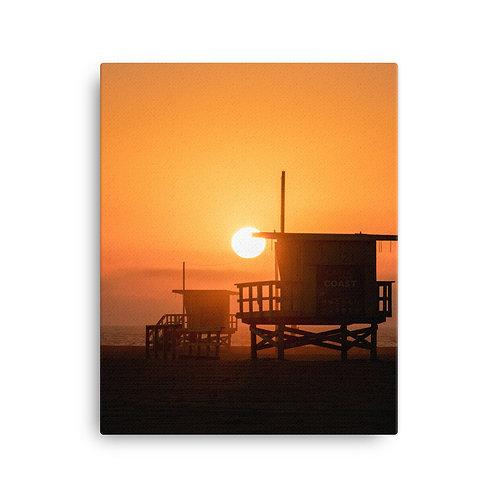 Santa Monica Beach, LA   Canvas