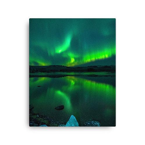 Northern Lights, Ice Lagoon | Canvas