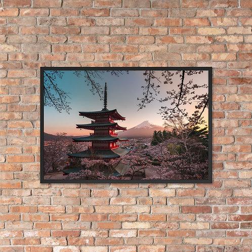Chureito Pagoda Sunset | Framed