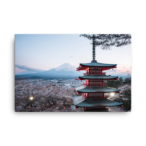 Chureito Pagoda Dusk | Canvas