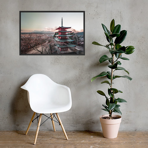 Chureito Pagoda   Framed