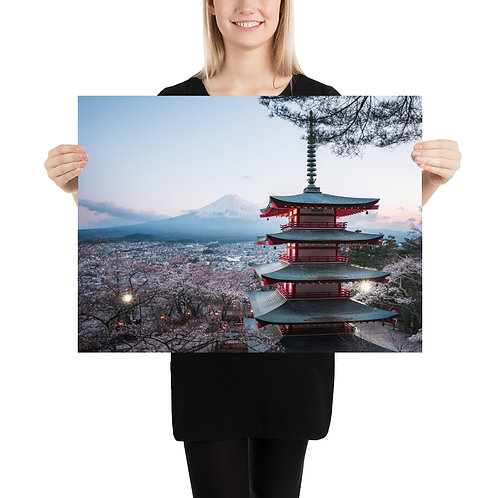 Chureito Pagoda Dusk | Print