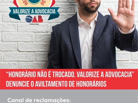 OAB Sorocaba lança campanha de Valorização a Advocacia