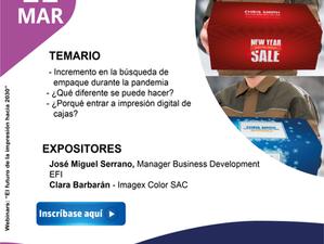 """Webinar: """"Impresión digital de cajas de cartón"""""""