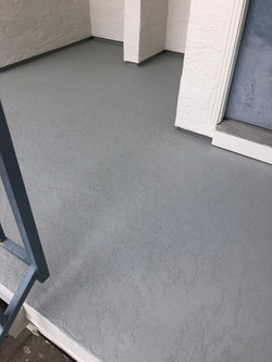 Deck coating waterproofing