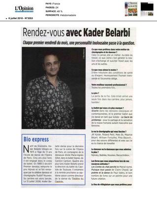 L'Opinion :  Rendez-vous avec Kader Belarbi