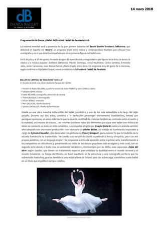 Le Ballet du Capitole à Peralada