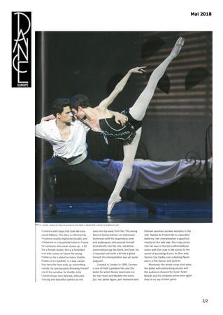 Dance Europe parle du Ballet du Capitole