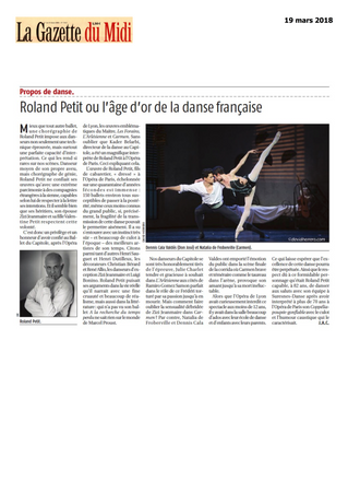 Roland Petit ou l'âge d'or de la danse française
