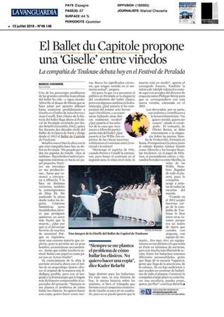 Giselle au festival de Peralada par la Vanguargia