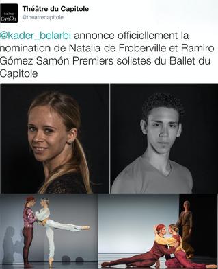 Deux nouveaux Premiers Solistes pour le Ballet du Capitole
