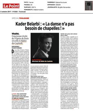 """Kader Belarbi: """"La danse n'a pas besoin de chapelles!"""""""
