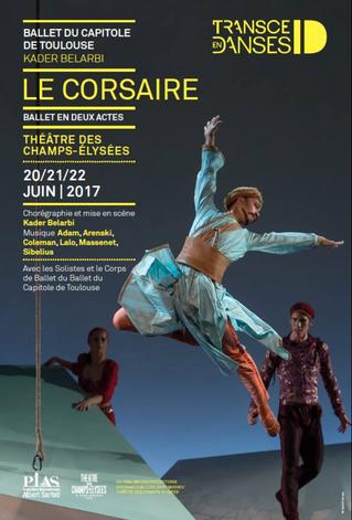 Le Ballet du Capitole au Théâtre des Champs-Elysées avec le Corsaire