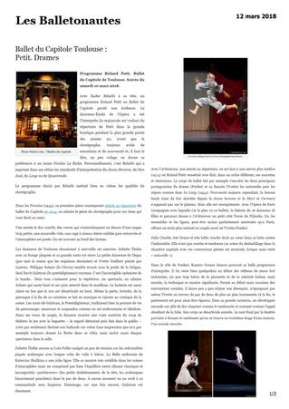 Les Balletonautes: programme Roland Petit