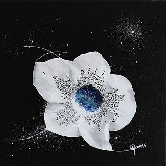 Les mysteres de l'univers - Nectar de fleur - Acrylique sur toile - Ghislaine Gabet Artiste peintre