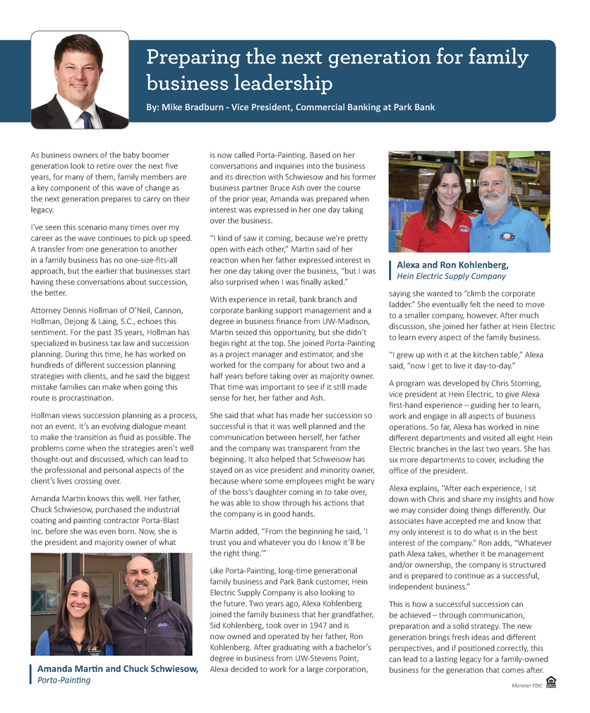 BizTimes Family Business Article