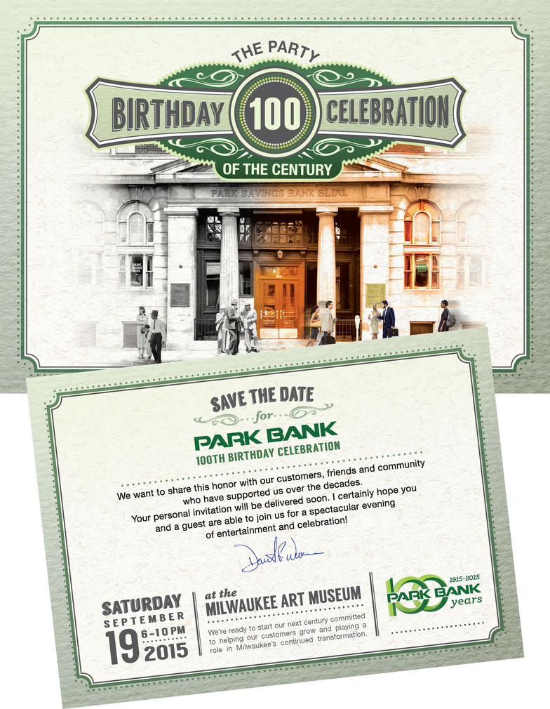 100th Anniversary Gala Save Date Sample