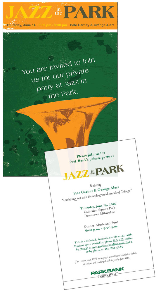 2007 Jazz In The Park Invitation