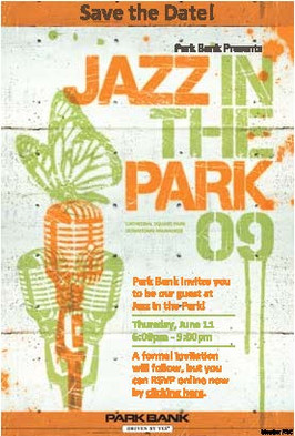 2009 Jazz In The Park Save the Date
