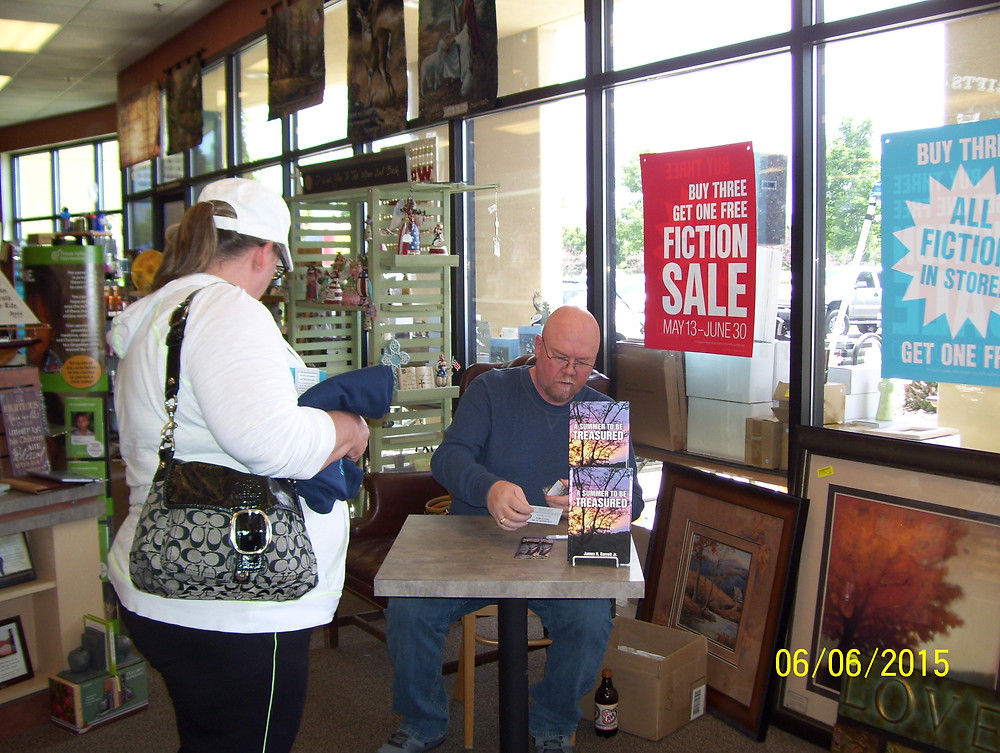 Book signing from A Summer to be Treasured.