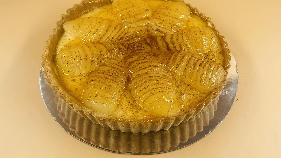 Pear & Custard Tart