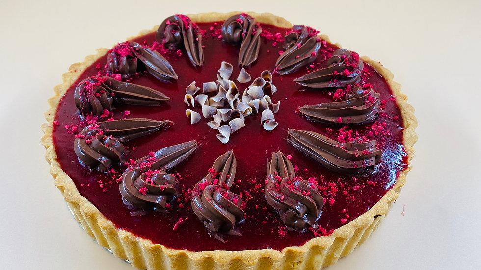 Deep Chocolate & Raspberry Pie