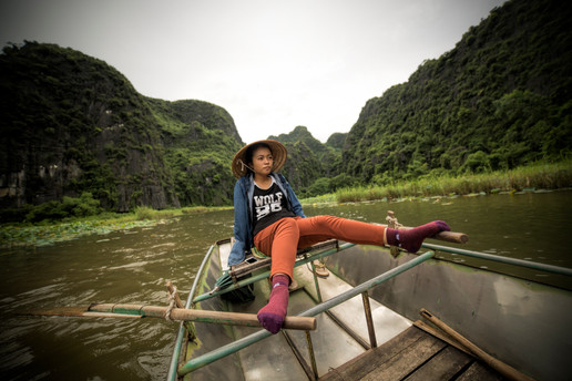 Rowing at Tam Coc