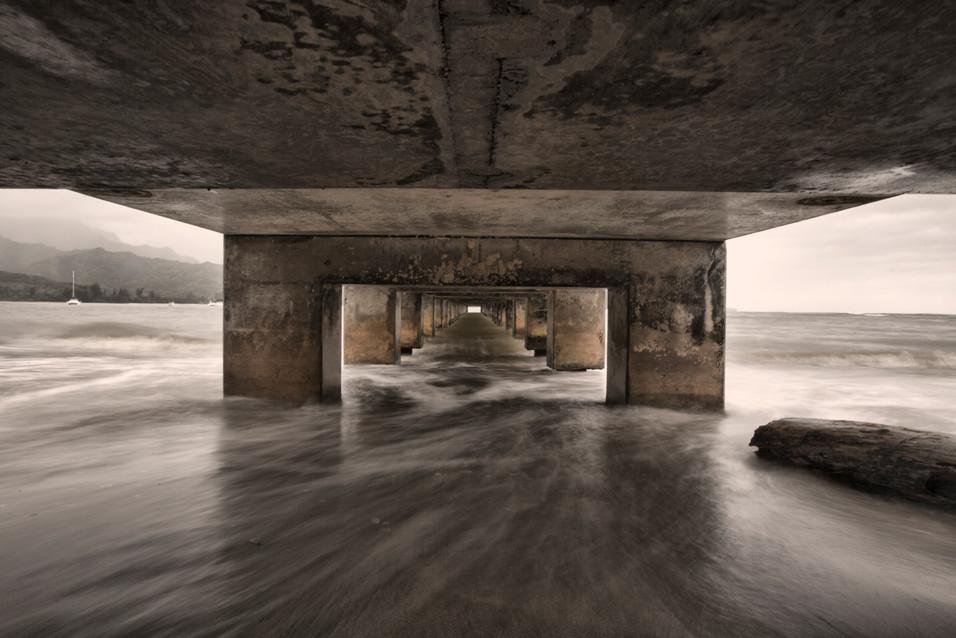 Under Hanalei Pier